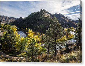 Color On The Poudre Canvas Print by Keith Ducker