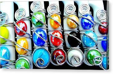 Color Stones Canvas Print by Louis Meyer