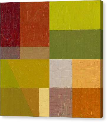 Color Study With Orange And Green Canvas Print by Michelle Calkins