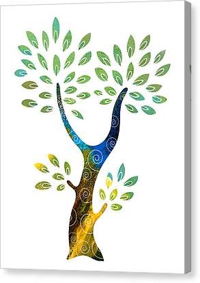 Color Tree Canvas Print by Frank Tschakert