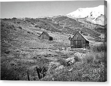 Colorado Barns Classic Mountain Landscape Canvas Print by Andrea Hazel Ihlefeld