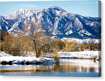 Colorado Flatirons 2 Canvas Print by Marilyn Hunt