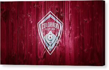 Colorado Rapids Barn Door Canvas Print by Dan Sproul