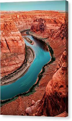 Colorado River Canvas Print featuring the photograph Colorado River Bend by Az Jackson