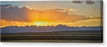 Colorado September Sunset Panorama Canvas Print by James BO  Insogna