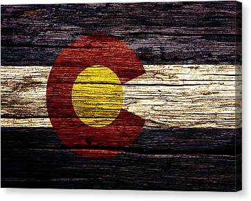 Colorado State Flag 3w Canvas Print by Brian Reaves