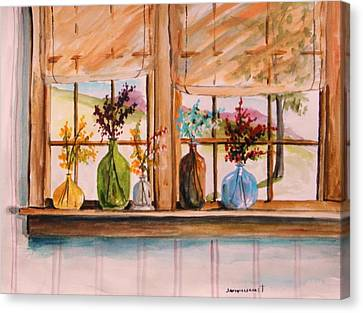 Colored Glass Canvas Print by John  Williams
