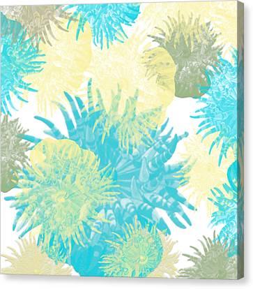 Colorful Anenome Canvas Print by Bonnie Bruno