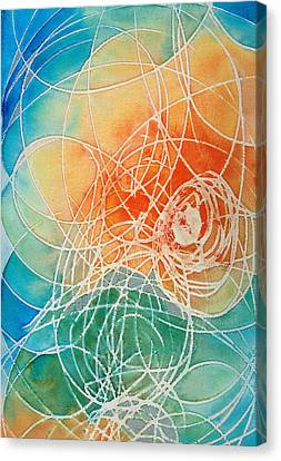 Colorful Art - Color Wash - By Sharon Cummings Canvas Print by Sharon Cummings