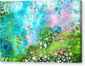 Colorful Art - Enchanting Spring - Sharon Cummings Canvas Print by Sharon Cummings