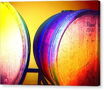 Colorful Barrels Canvas Print by Cindy Edwards
