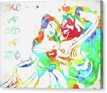 Colorful Beauty And Beast Canvas Print by Dan Sproul