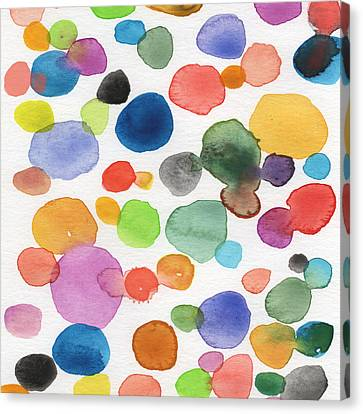 Colorful Bubbles Canvas Print by Linda Woods
