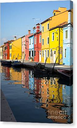 Colorful Burano Canvas Print by Prints of Italy