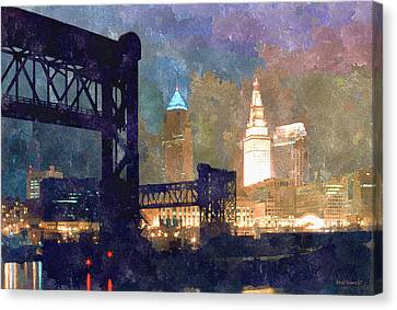 Colorful Cleveland Canvas Print by Kenneth Krolikowski
