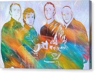 Colorful Coldplay Canvas Print by Dan Sproul