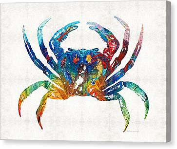 Colorful Crab Art By Sharon Cummings Canvas Print by Sharon Cummings