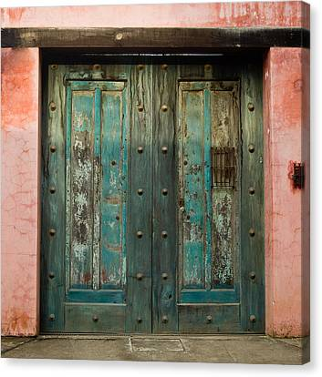 Colorful Doors Antigua Guatemala Canvas Print by Douglas Barnett