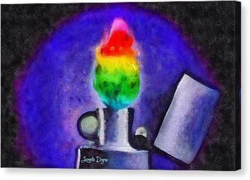 Colorful Fire - Da Canvas Print by Leonardo Digenio