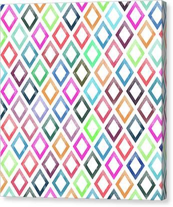 Colorful Geometric Patterns  Canvas Print by Amir Faysal