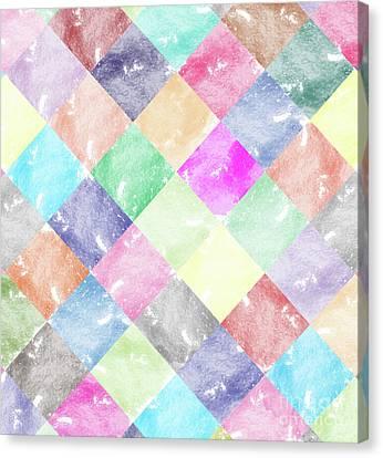 Colorful Geometric Patterns IIi Canvas Print by Amir Faysal
