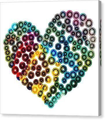 Colorful Heart Canvas Print by Frank Tschakert