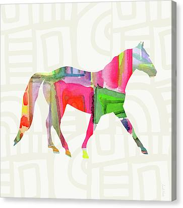 Colorful Horse 1- Art By Linda Woods Canvas Print by Linda Woods