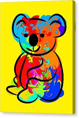 Colorful Koala Canvas Print by Chris Butler
