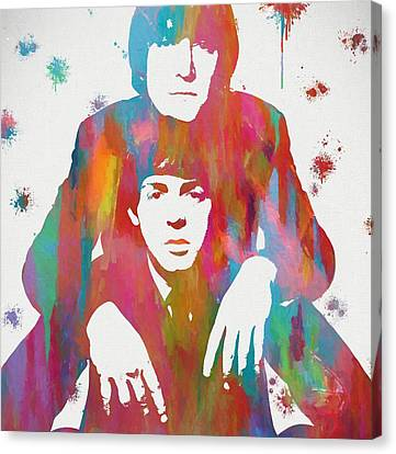 Colorful Lennon And Mccartney Canvas Print by Dan Sproul
