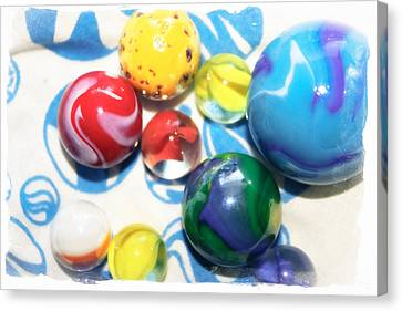 Colorful Marbles Canvas Print by Colleen Kammerer