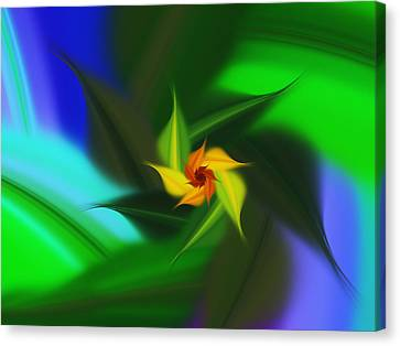Colorful Modern Abstract Flower Canvas Print by Georgiana Romanovna