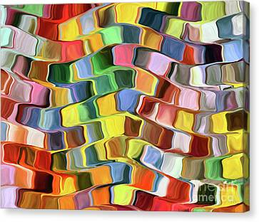 Colorful Pop Abstract Canvas Print by Grigorios Moraitis