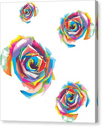 Colorful Pop Art Flower Canvas Print by Madiaz Roby