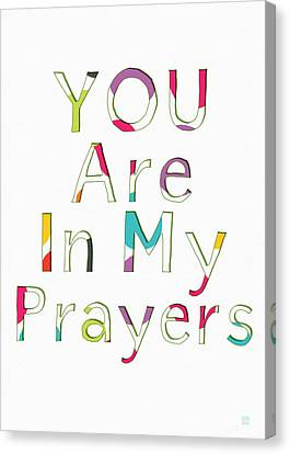 Colorful Prayers- Art By Linda Woods Canvas Print by Linda Woods