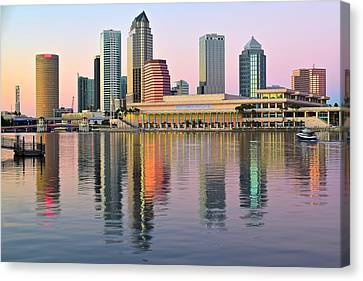 Colorful Tampa Bay Canvas Print by Frozen in Time Fine Art Photography