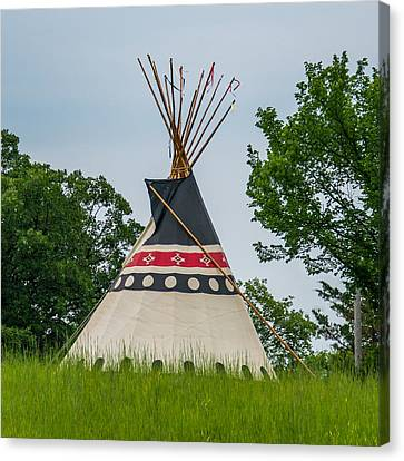 Colorful Tipi Canvas Print by Paul Freidlund