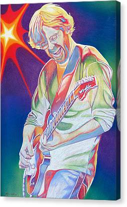 Colorful Trey Anastasio Canvas Print by Joshua Morton