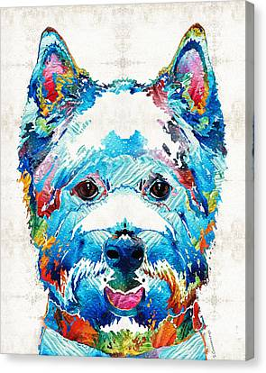 Colorful West Highland Terrier Dog Art Sharon Cummings Canvas Print by Sharon Cummings