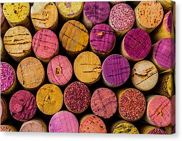 Colorful Wine Corks Canvas Print by Garry Gay