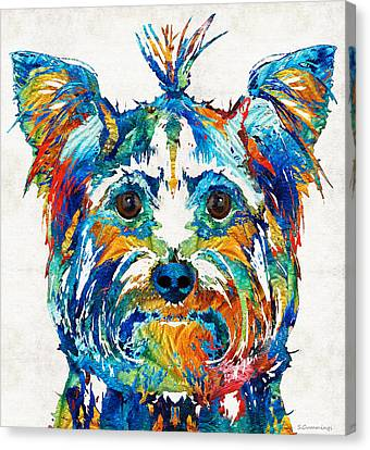 Colorful Yorkie Dog Art - Yorkshire Terrier - By Sharon Cummings Canvas Print by Sharon Cummings