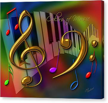 Colors Of Music Canvas Print by Judi Quelland