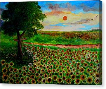 Colors Of Nature Canvas Print by Constantinos Charalampopoulos