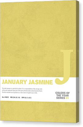 Colors Of The Year Series 01 Graphic Design January Jasmine  Canvas Print by Design Turnpike