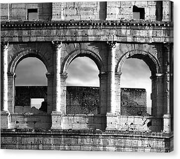 Colosseum Arched Windows Canvas Print by Stefano Senise