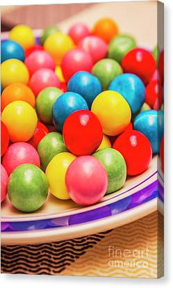 Colourful Bubblegum Candy Balls Canvas Print by Jorgo Photography - Wall Art Gallery