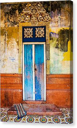 Colourful Door Canvas Print by Dave Bowman
