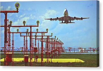 Colourful Take-off Canvas Print by Patrick English
