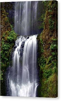 Columba River Gorge Falls 3 Canvas Print by Marty Koch