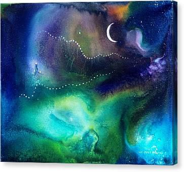 Columbian Moonrise Canvas Print by Lee Pantas