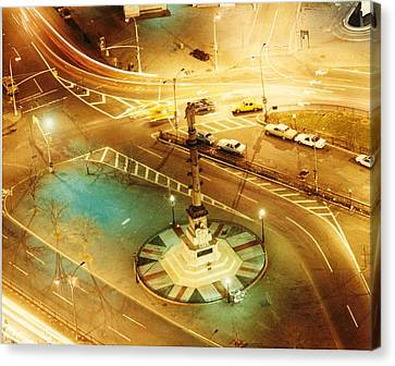 Columbus Circle Canvas Print by Don Youngclaus